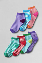 Classic Girls Ankle Socks (7-pack)-Silver