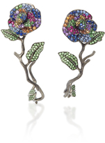 Lydia Courteille One-Of-A-Kind Flowers Earrings