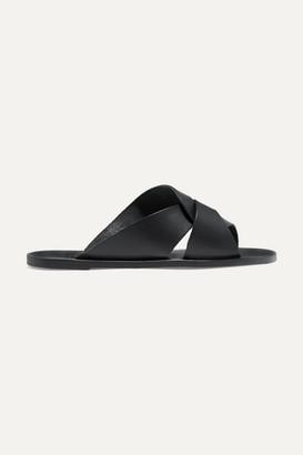 Atelier Atp ATP Allai Cutout Leather Sandals - Black
