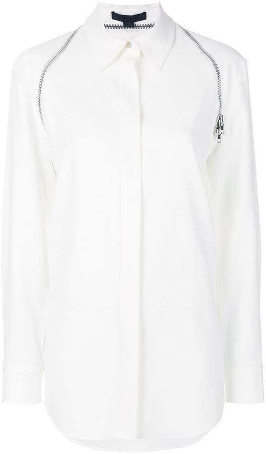 Alexander Wang zipper detail button down shirt