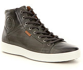 Ecco Men's Soft VII Premium Leather Lace-Up High Top Sneakers