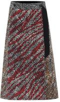 Rag & Bone Colette printed silk midi skirt