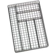 """Lipper 8168 Flatware Organizer, 6 Compartments, Metal Wire, 10-3/4"""" x 15-3/4"""" x 2-1/8"""""""