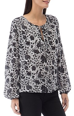 Bobeau B Collection by Bridgette Floral Print Top