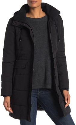 Lucky Brand Missy Faux Fur Hooded Parka Jacket