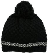 San Diego Hat Company Women's Chunkty Stitch Beanie with Faux Gem