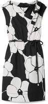 Marc Jacobs Floral-print Cotton-poplin Dress - Black
