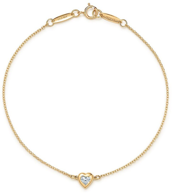 Thumbnail for your product : Tiffany & Co. Elsa Peretti Diamonds by the Yard heart bracelet in 18k gold