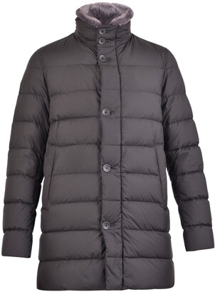 Herno Faux Fur Collared Puffer Coat