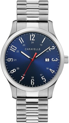 Caravelle by Bulova Men's Stainless Expansion Band Watch