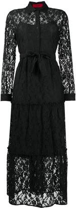 HUGO BOSS Lace Layer Shirt Dress