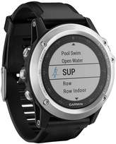 Garmin Fenix 3 HR Silver Edition Watch With Black Silicone Band