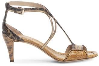 Chloé Carla Croc- & Snakskin-Embossed Sandals
