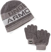 Under Armour Little Boys Striped Beanie Hat & Gloves Set