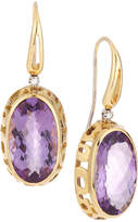 Roberto Coin Mauresque 18k Rose Gold Amethyst & Diamond Drop Earrings