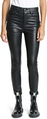 Pistola Denim Aline High Waist Faux Leather Skinny Jeans