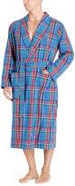 Ralph Lauren Plaid Shawl-collar Robe