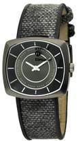 Replay RW1401DH Women's Analog Quartz Watch with Black Leather Strap