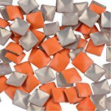 Zink Color Nail Art Neon Orange Square Metal Stud 50 Piece Embellishment