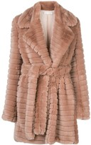 Fleur Du Mal panelled faux fur coat