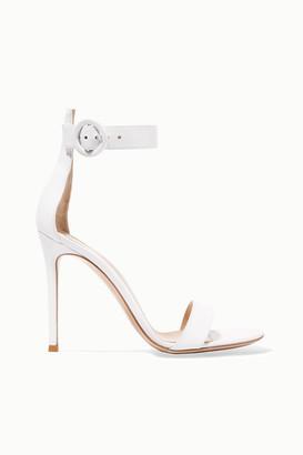 Gianvito Rossi Portofino 105 Leather Sandals - White