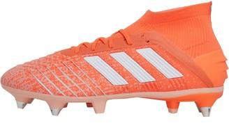 adidas Womens Predator 19.1 SG Soft Ground Hi-Res Coral/Footwear White/Glow Pink