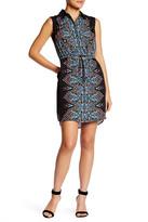 Tahari Printed Chiffon Shirt Dress (Petite)