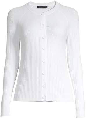 Piazza Sempione Ribbed Button-Front Cardigan