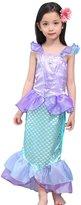 Janeyer® Janeyer Kids Children Girl The Mermaid Dress Princess Skirt Hallowmas Costume Q29 120cm