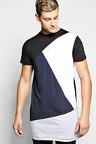 Boohoo Longline Spliced T Shirt