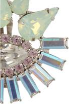 Elizabeth Cole Hematite-plated Swarovski crystal clip earrings