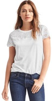 Gap Pretty eyelet-yoke top