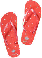 Joe Fresh Kid Girls' Canada Flip Flops, Red (Size M)