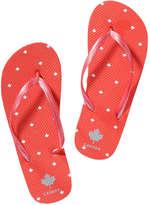 Joe Fresh Kid Girls' Canada Flip Flops, Red (Size XS)
