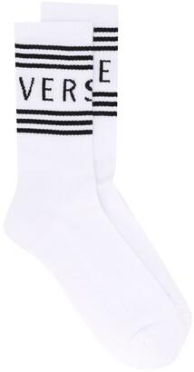 Versace Logo Detail Socks