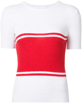 Maison Margiela striped knitted top