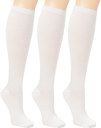 Xtf By Extreme Fit XTF by Extreme Fit Compression Socks White - White 15-20 mmHg Compression Socks - Set of Three