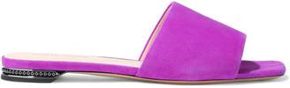 Nicholas Kirkwood Casati Faux Pearl-embellished Suede Slides