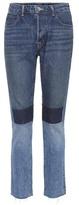 Helmut Lang Jean patchwork à taille h