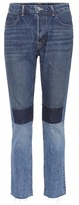 Helmut Lang Patchwork high-waisted cropped jeans