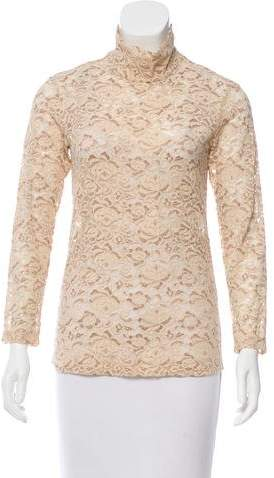 Celine Lace Mock Neck Top