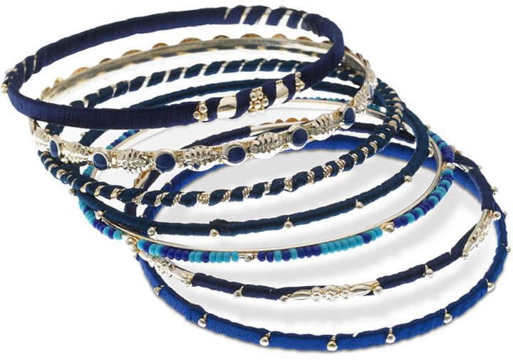 d4140429bd70b Gold-Tone 7-Pc. Set Stone, Bead & Thread-Wrapped Bangle Bracelets