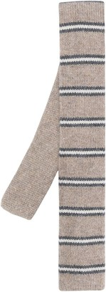 Brunello Cucinelli Striped-Print Cashmere Tie