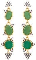 Freida Rothman 14K Gold Plated Green Agate Drop Earrings