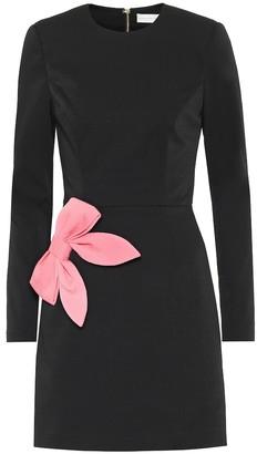 Rebecca Vallance Winslow bow-embellished crApe dress