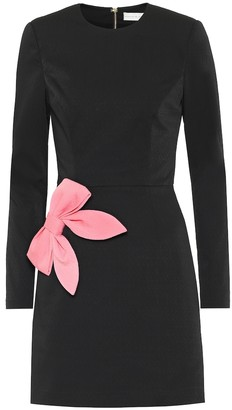 Rebecca Vallance Winslow bow-embellished crApe dress