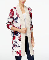 INC International Concepts Butterfly-Print Duster Cardigan, Only at Macy's