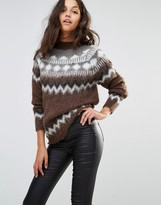 Replay Fairisle Fluffy Knit Sweater