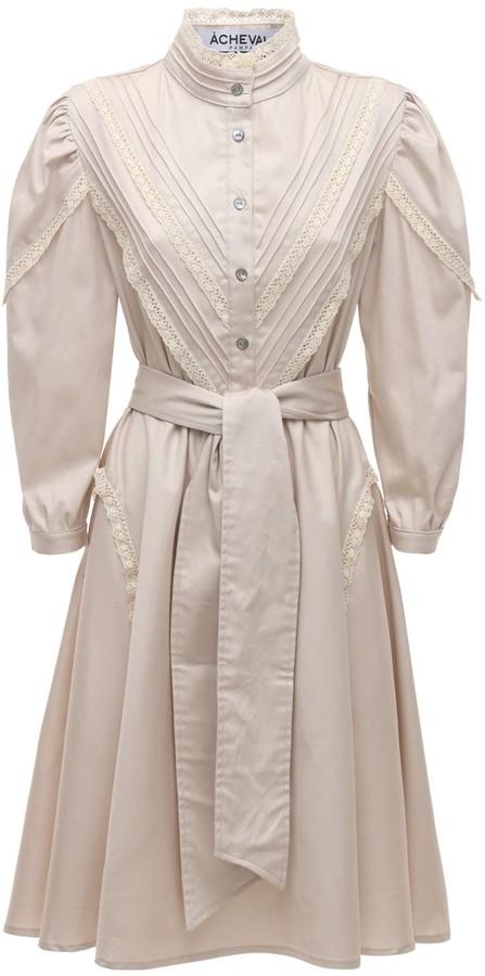 ÀCHEVAL PAMPA Yegua Cotton Satin Midi Dress