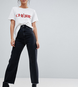 Asos Tall DESIGN Tall wide leg jeans in ashes black wash
